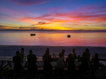 Winding down after a hard day's work on Lizard Island on the far north Great Barrier Reef